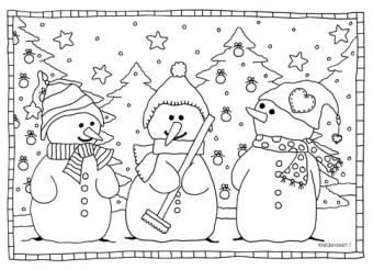 sneeuwmannen klein