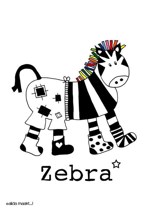 poster zebra jongen