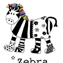 poster zebra meisje