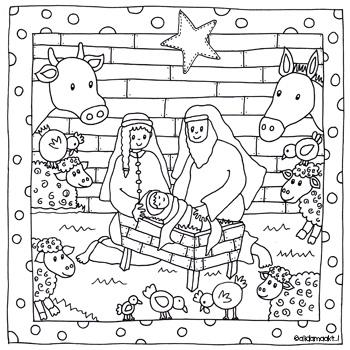 Kleurplaten Van Kerststallen.Kerststal Alida Maakt