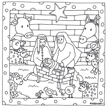 Kleurplaten Kerststal Maken Archidev